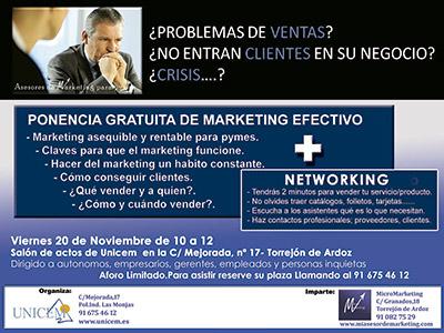 ponencia y networking gratuito