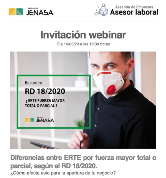 Webinar Coronavirus y ERTEs.