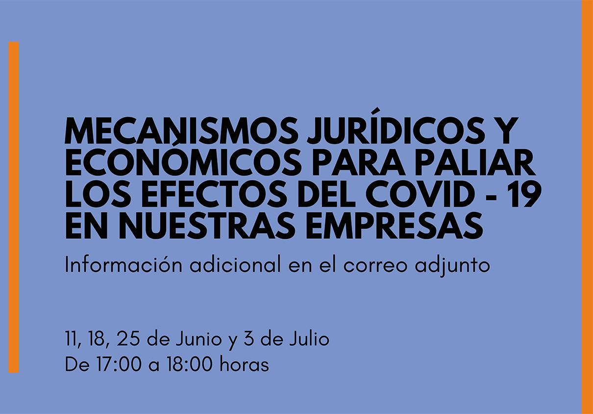 Webinar sobre mecanismos jurídicos y económicos para paliar los efectos de COVID-19 en nuestras empresas
